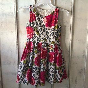 Girl sleeveless floral dress size 6x/7